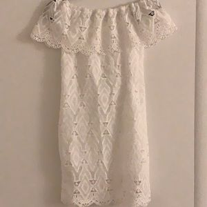 White Lace Off the Shoulder Dress size Small